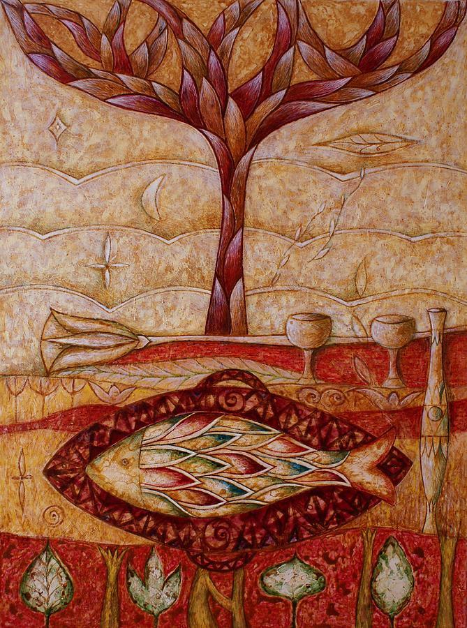 Symbolic Painting - Patera by Kasia Blekiewicz