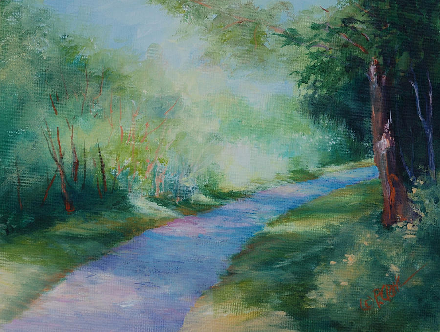 Path Painting - Path To The Pond by Donna Pierce-Clark