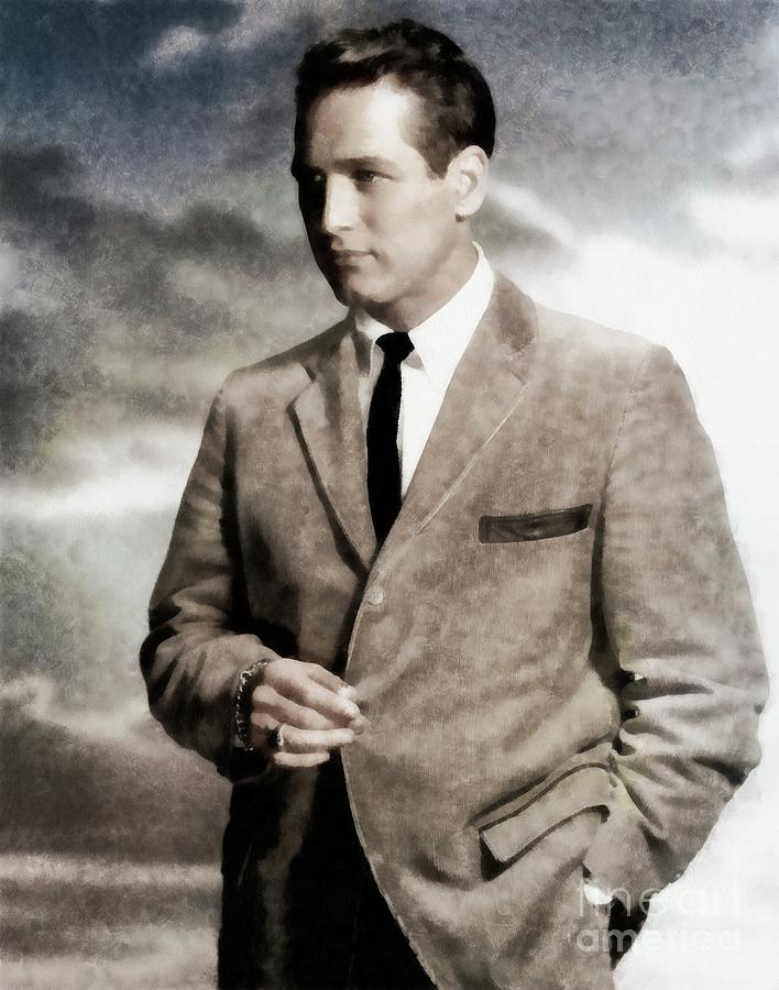 Paul Painting - Paul Newman, Hollywood Legend By Js by John Springfield