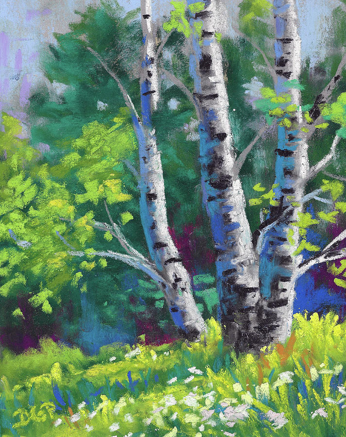 Nature Painting - Peace In Nature by David G Paul