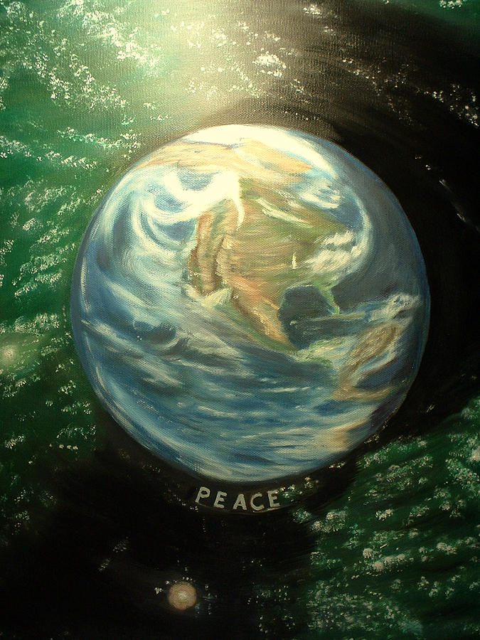 Peace Project Painting - Peace by Kenneth LePoidevin