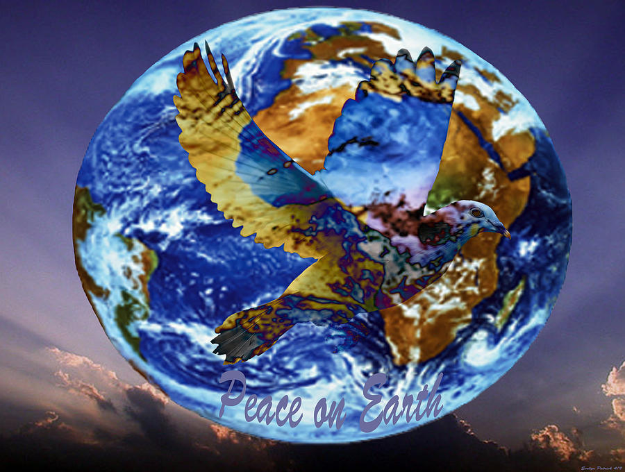 Earth Digital Art - Peace on Earth by Evelyn Patrick