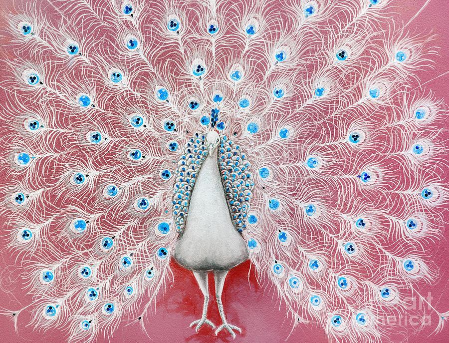 Peacock Pattern On The Wall By Setsiri Silapasuwanchai
