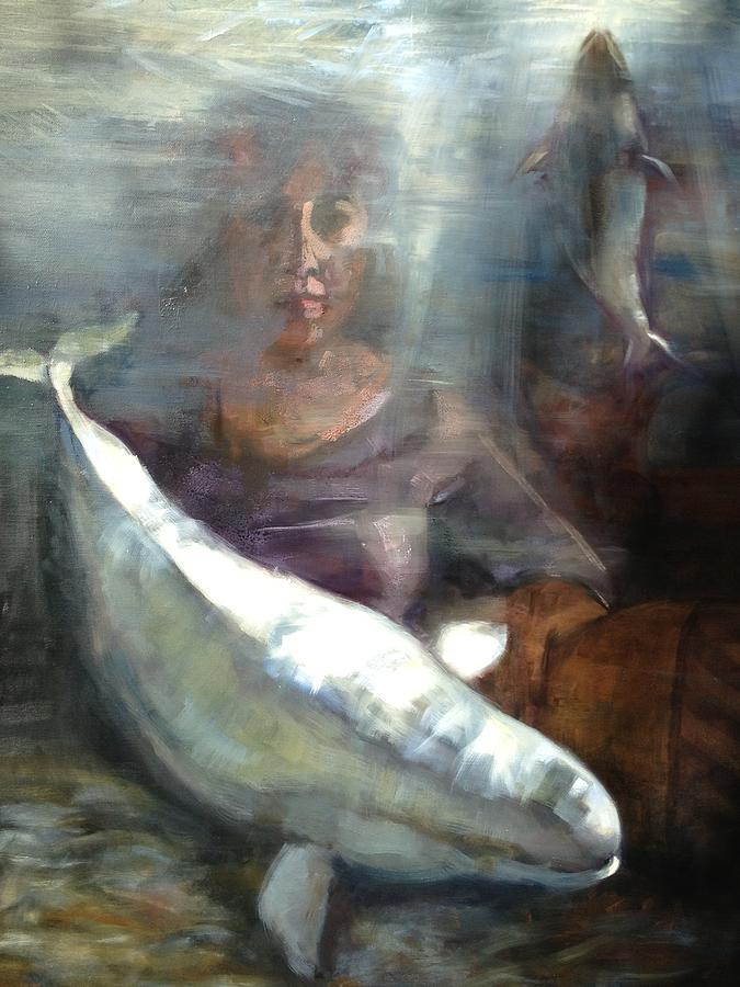 Peace Under Water Painting by Cynthia Mozingo