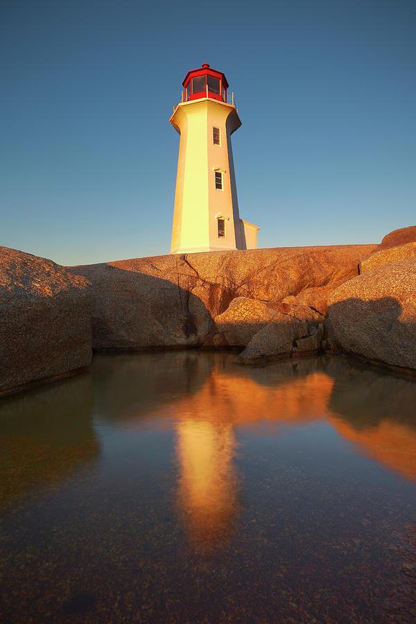 Peggy's Cove Lighthouse Photograph - Peggys Cove Lighthouse by Brian Knott Photography