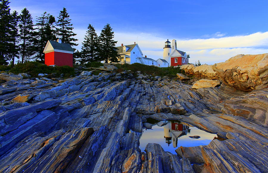 Pemaquid Point Light Photograph - Pemaquid Point Light Reflections by Suzanne DeGeorge