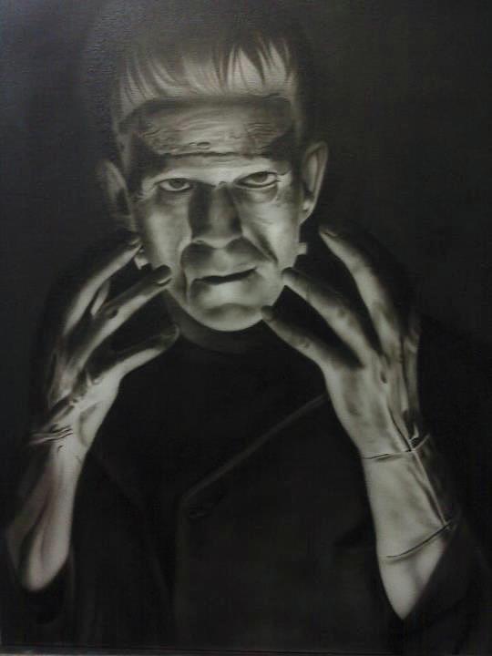 Airbrush Painting - People- Frankensteins Monster by Shawn Palek
