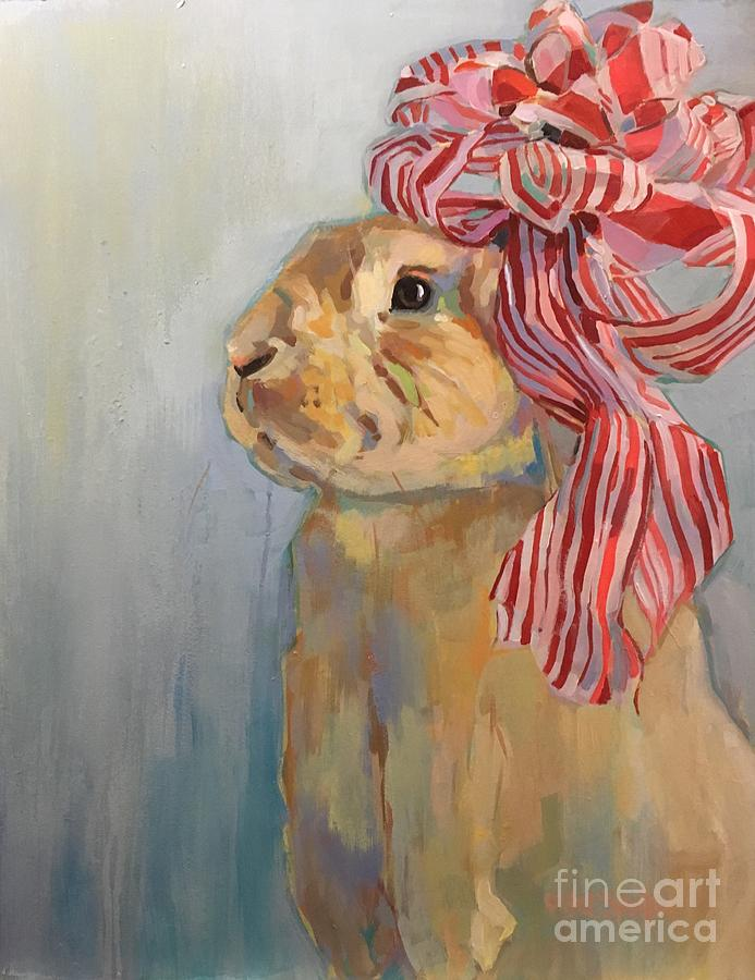 Bunny Painting - Peppermint by Kimberly Santini