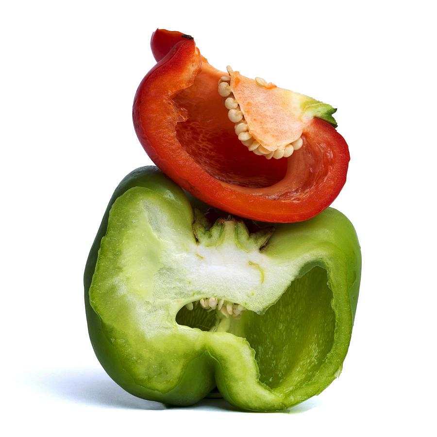 Peppers Photograph - Peppers by Bernard Jaubert