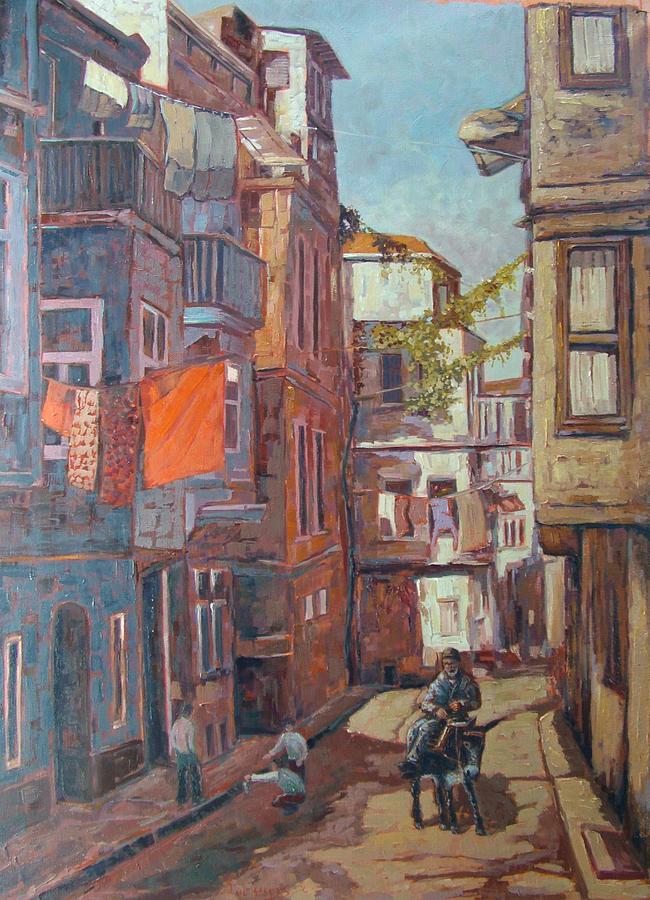 Landscape Painting - Pera Neighbourhood by Charalampos Laskaris