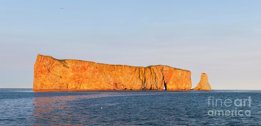 Perce Rock Photograph - Perce Rock At Sunset by Elena Elisseeva