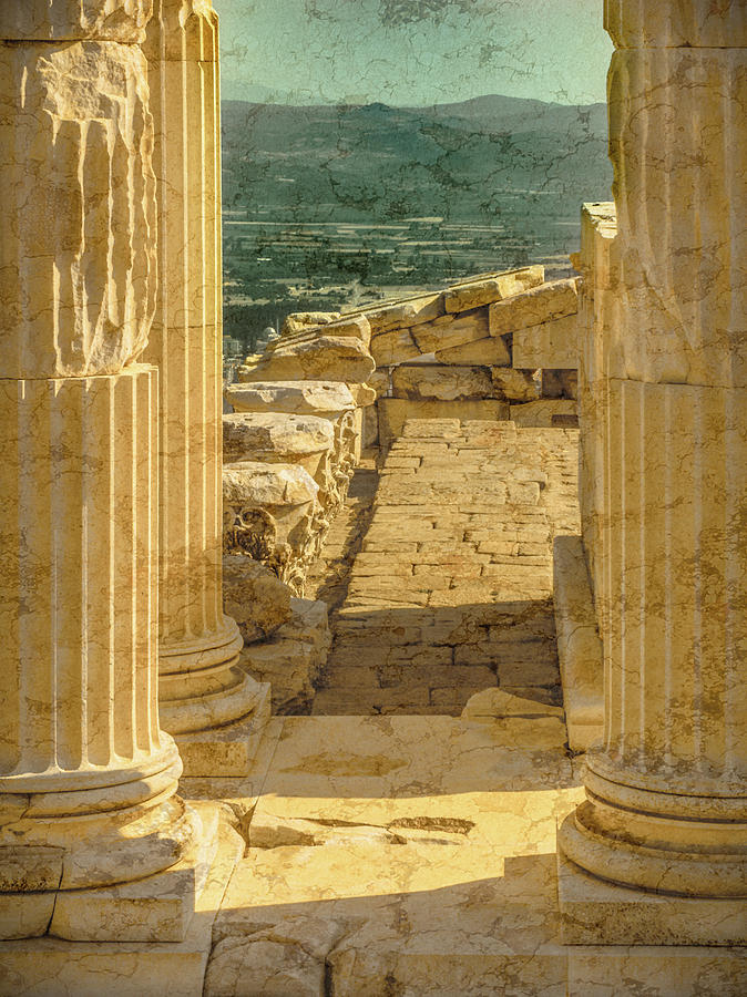 Pergamon, Turkey - Temple of Trajan by Mark Forte