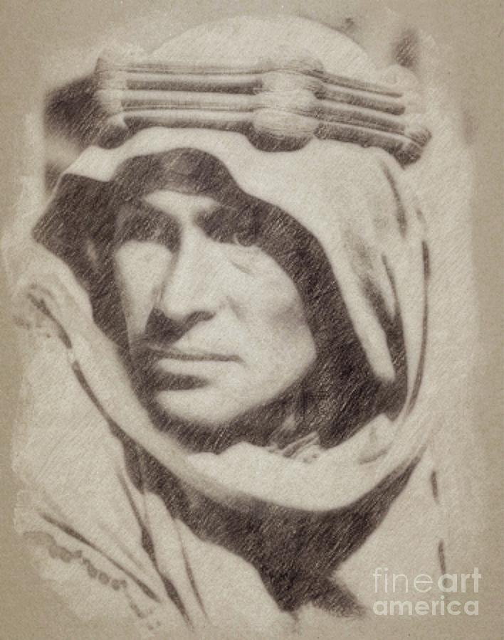 Peter Otoole As Lawrence Of Arabia Drawing