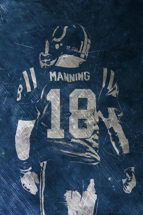 Peyton Manning Painting - Peyton Manning Colts 2 by Joe Hamilton
