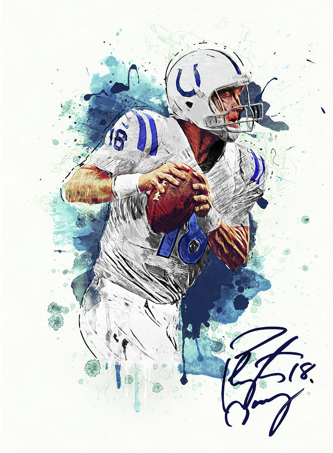 Peyton Manning Digital Art