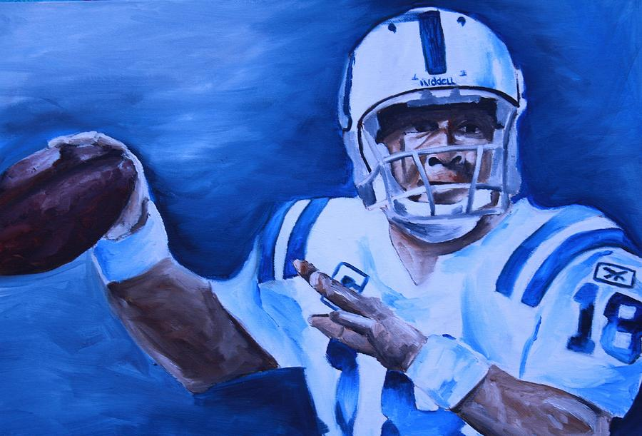 Nfl Paintings Painting - Peyton by Mikayla Ziegler