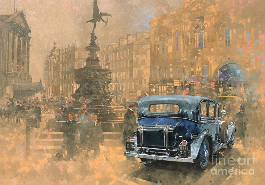 Phantom In Piccadilly Painting By Peter Miller