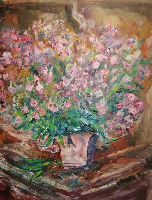 Phlox Painting by Joseph Sandora Jr