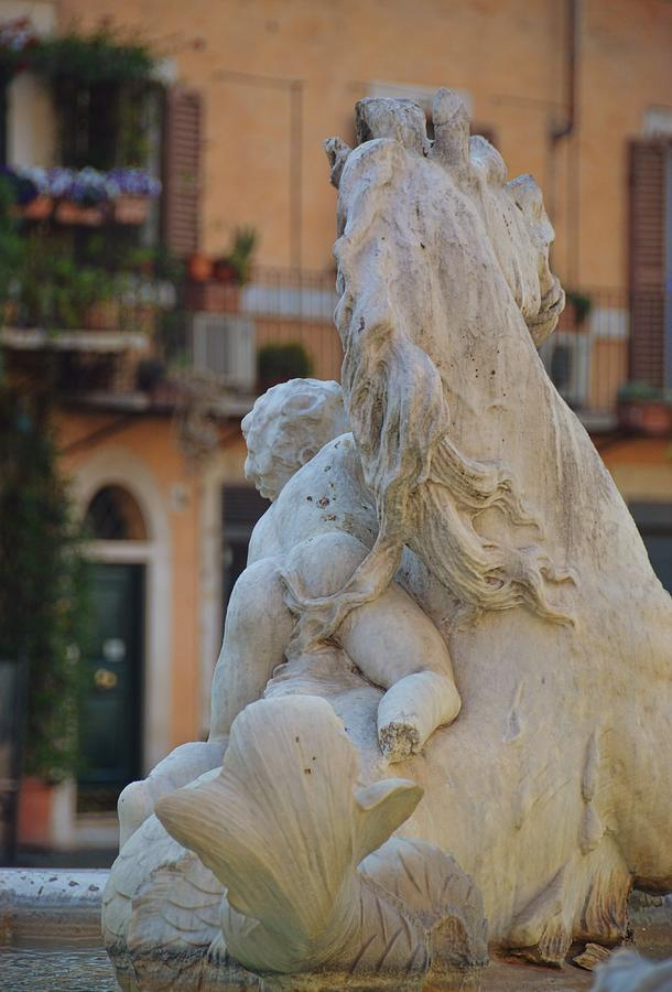 Italy Photograph - Piazza Fountain Views by JAMART Photography