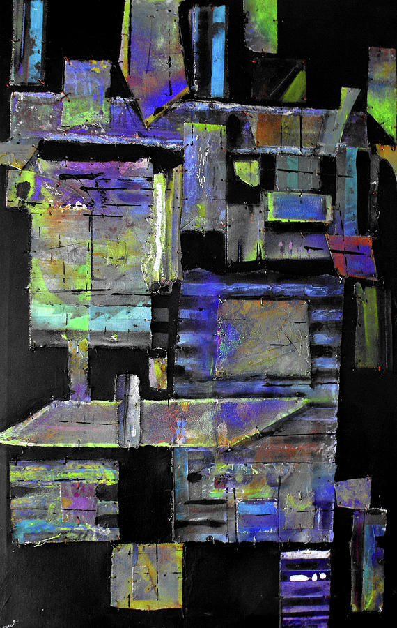 Mixed Media Painting - Pieces I by Ralph Levesque