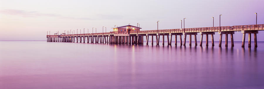 Color Image Photograph - Pier In The Sea, Gulf State Park Pier by Panoramic Images