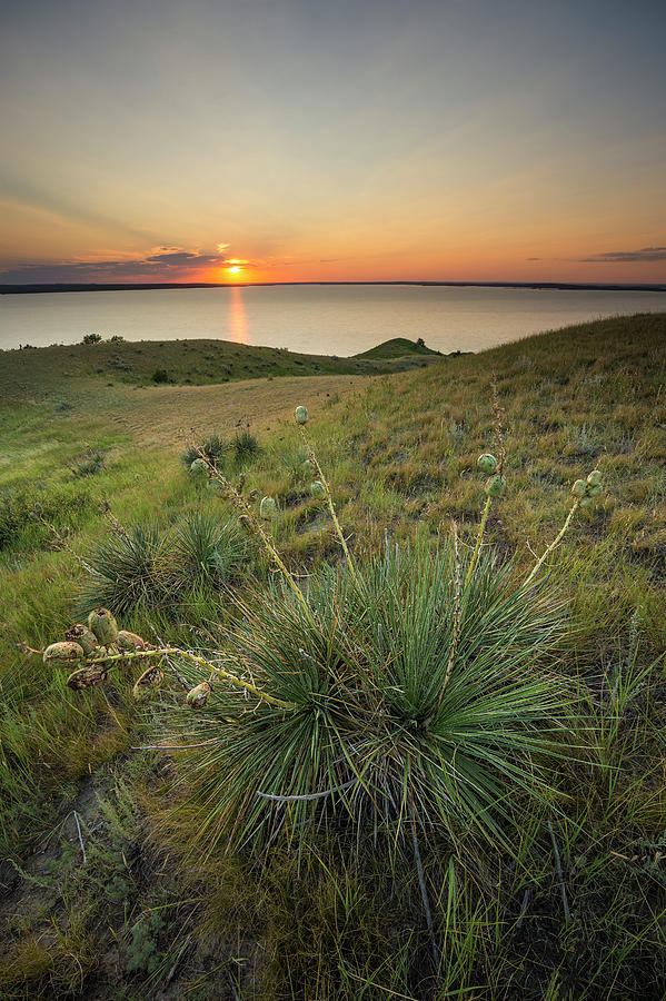 Lake Oahe Photograph - Pike Haven Sunset  by Aaron J Groen