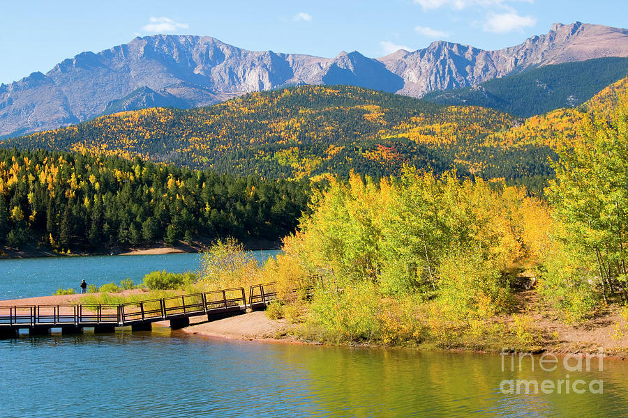 Pikes Peak And Crystal Reservoir Photograph