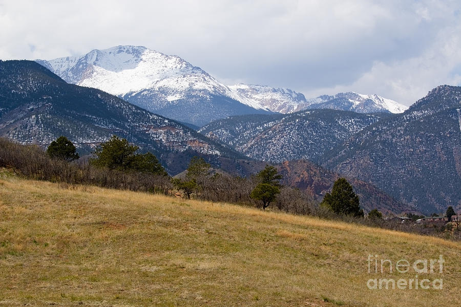 Pikes Peak From Red Rock Canyon Photograph