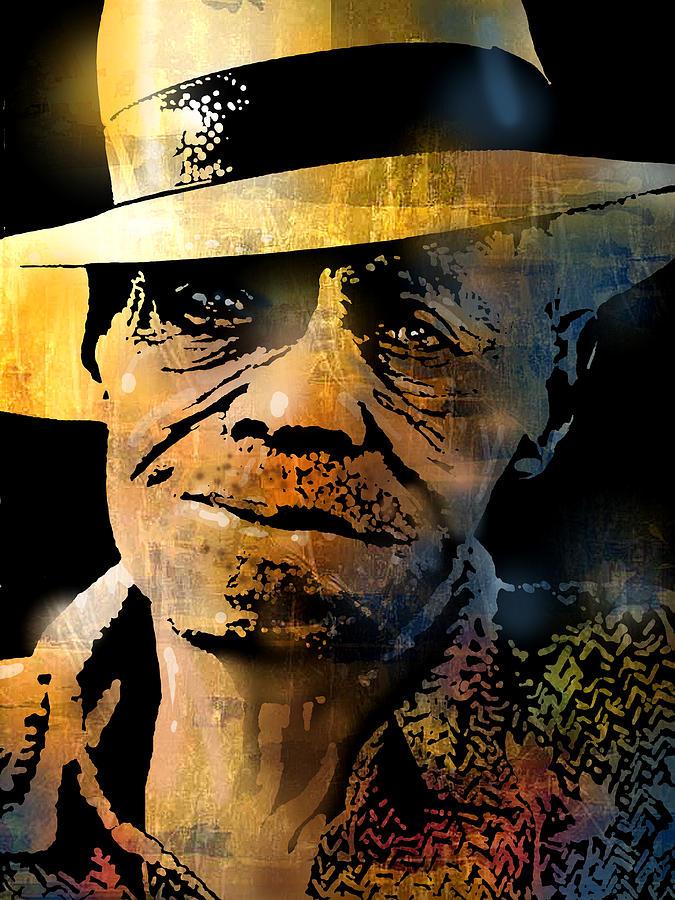 Blues Painting - Pinetop Perkins by Paul Sachtleben