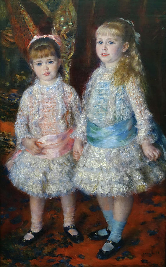 Pink And Blue Painting - Pink And Blue by Pierre-Auguste Renoir