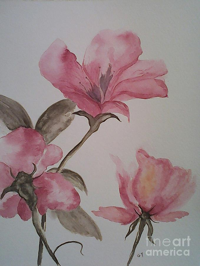 Pink Flowers Painting - Pink Floral by Ginny Youngblood
