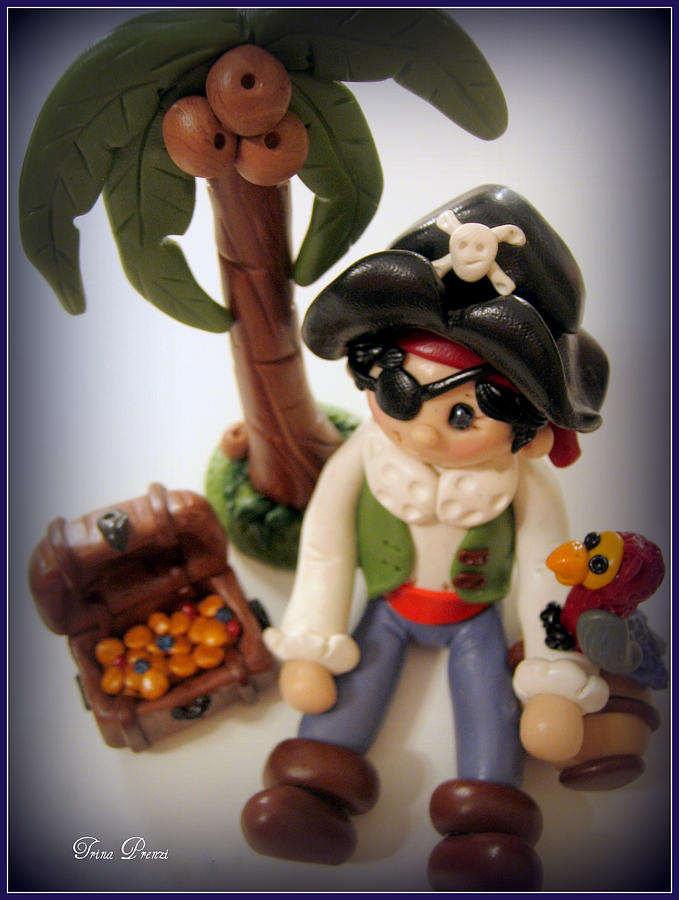 Polymer Clay Photograph - Pirate Scene by Trina Prenzi