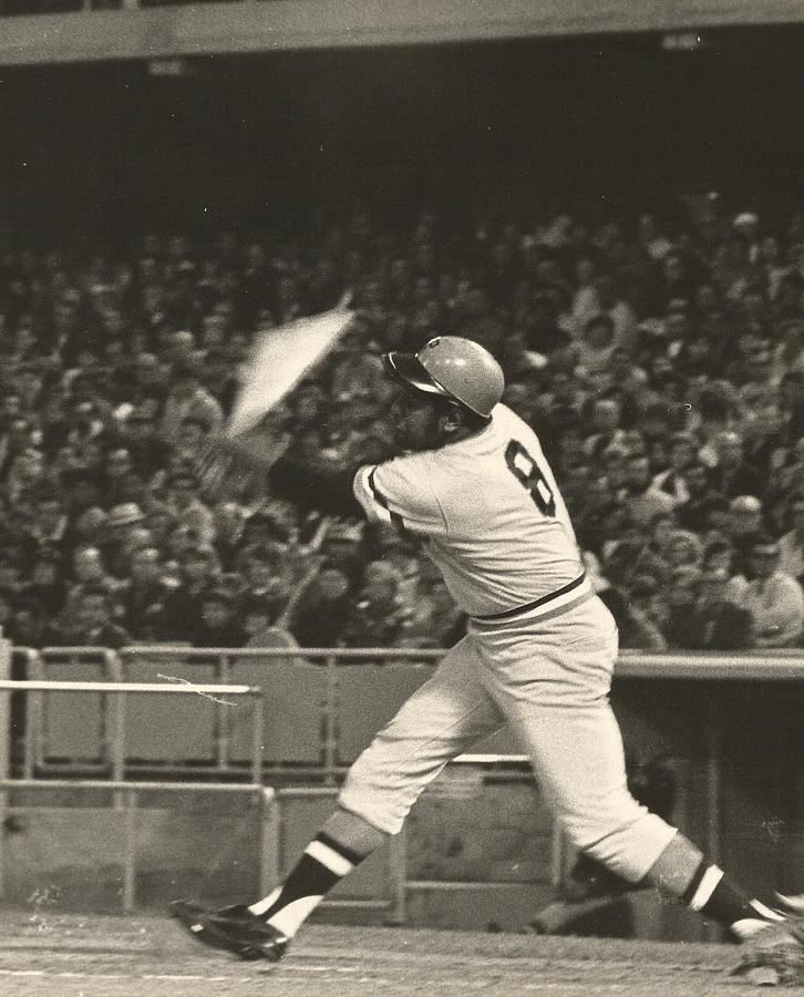 Pittsburgh Pirates Photograph - Pittsburgh Pirate Willie Stargell Batting At Dodger Stadium  by Jamie Baldwin