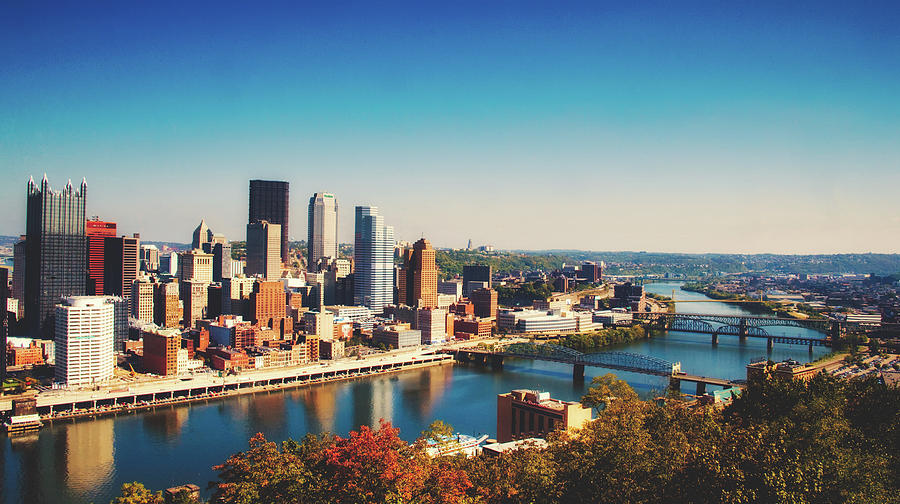 Pittsburgh Photograph - Pittsburgh Skyline by Library Of Congress