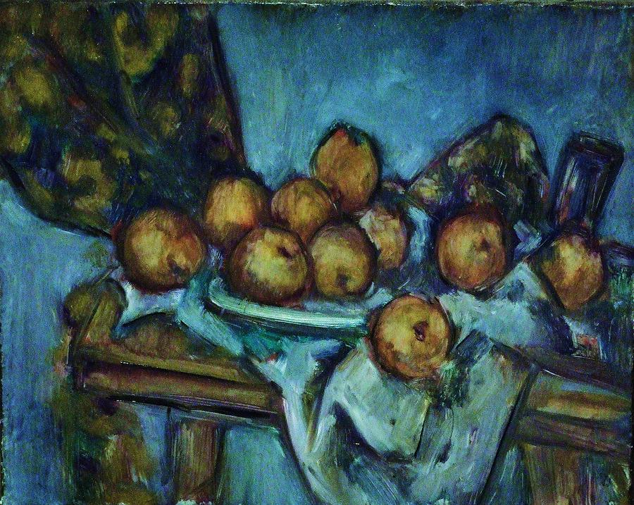 Still Life Painting - Plate And Apples by Jean pierre  Harixcalde