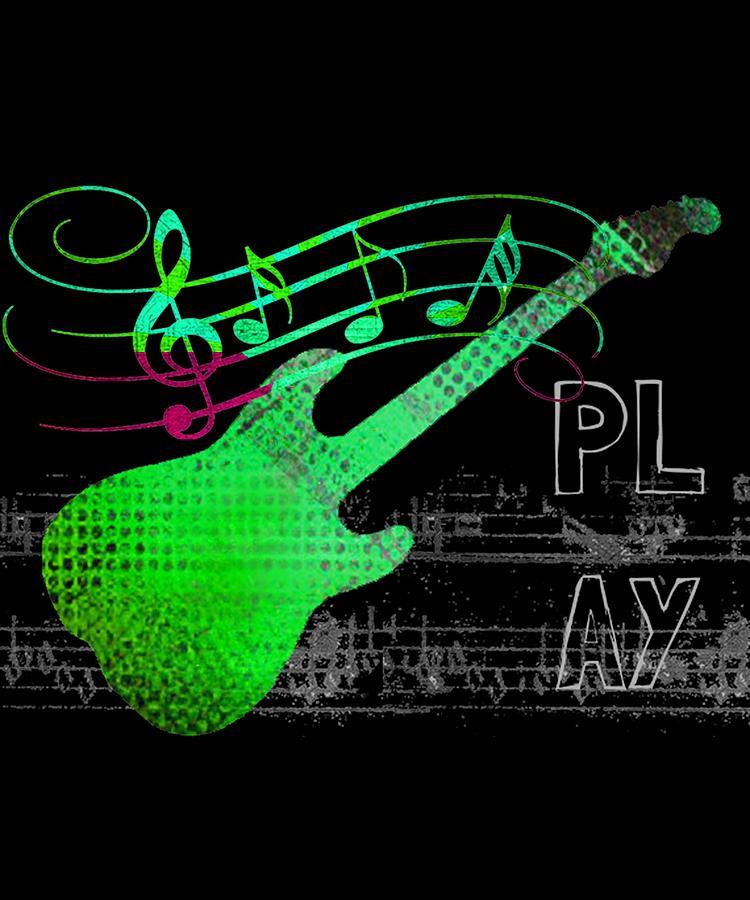 Guitar Digital Art - Play 3 by Guitar Wacky