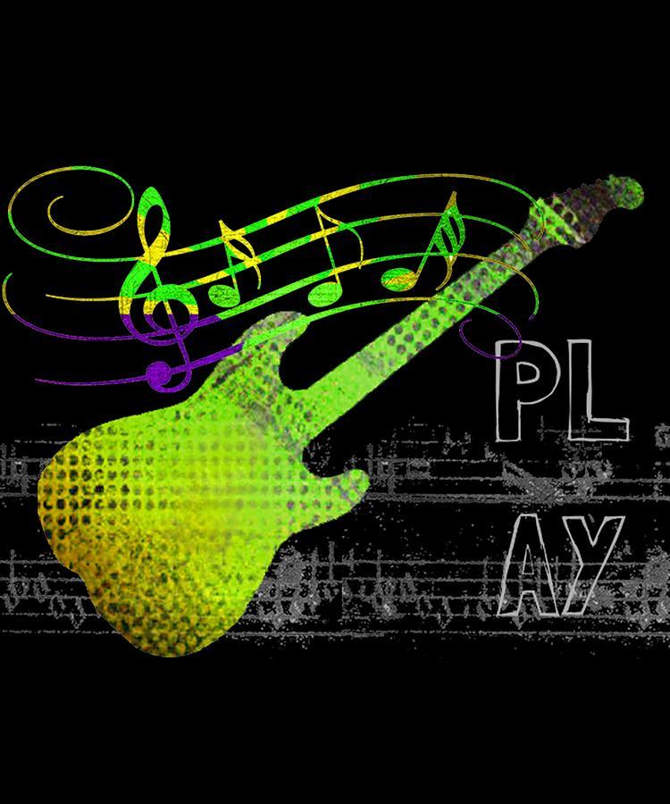 Guitar Digital Art - Play 1 by Guitar Wacky