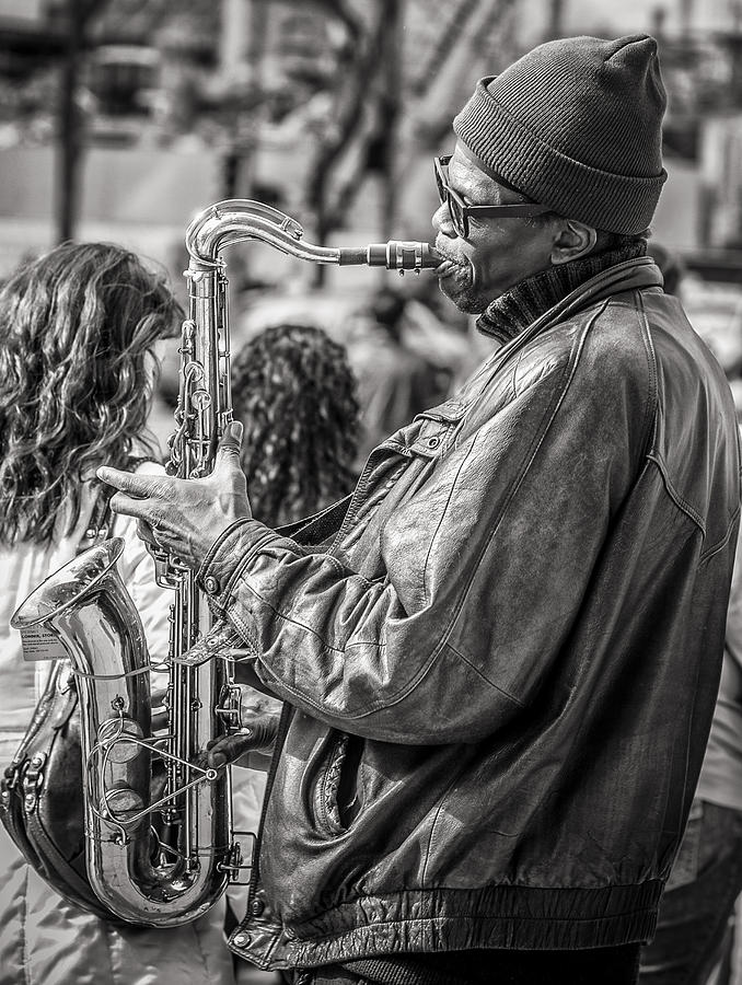 Sax Photograph - Player by James Bull