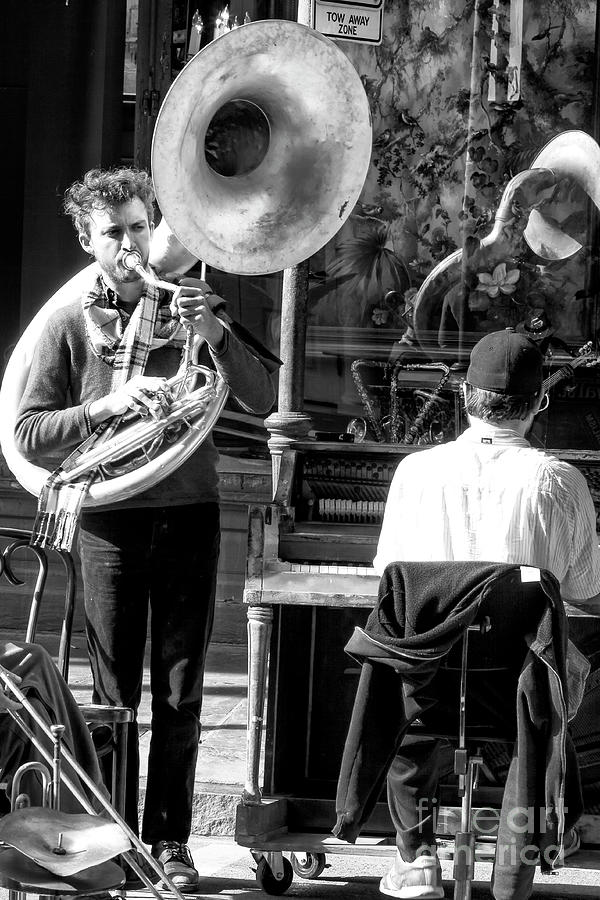 Orleans Photograph - Playing Jazz In New Orleans by John Rizzuto