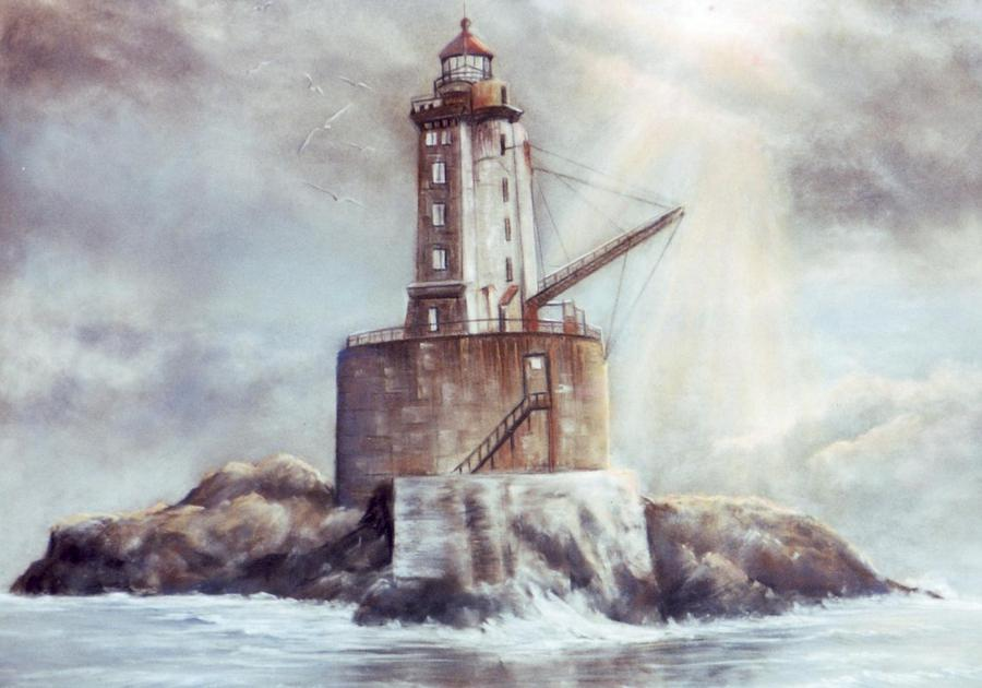 Lighthouse Painting - Point St. George Reef Lighthouse by Lynne Parker