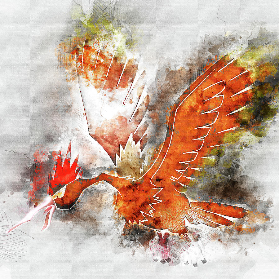 db40832c Pokemon Fearow Abstract Portrait - By Diana Van Painting by Diana ...