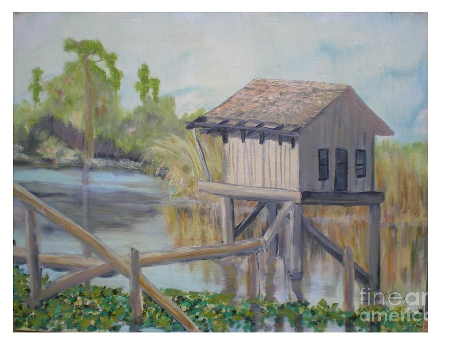 Seascape Painting - Pole House by Hal Newhouser