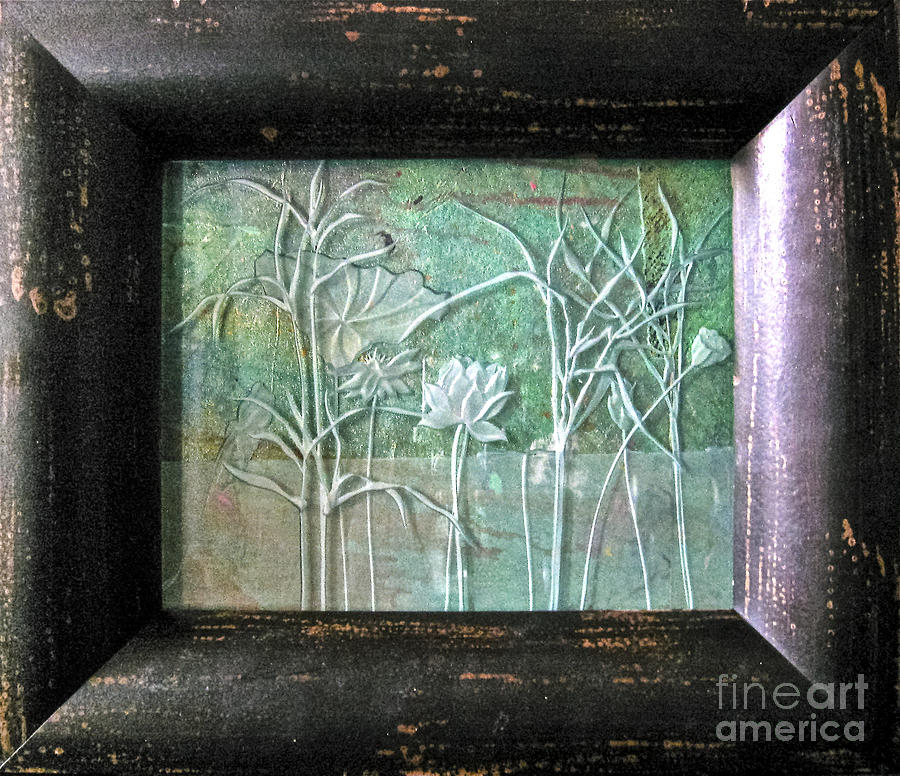 Plants Glass Art - Pond by Alone Larsen