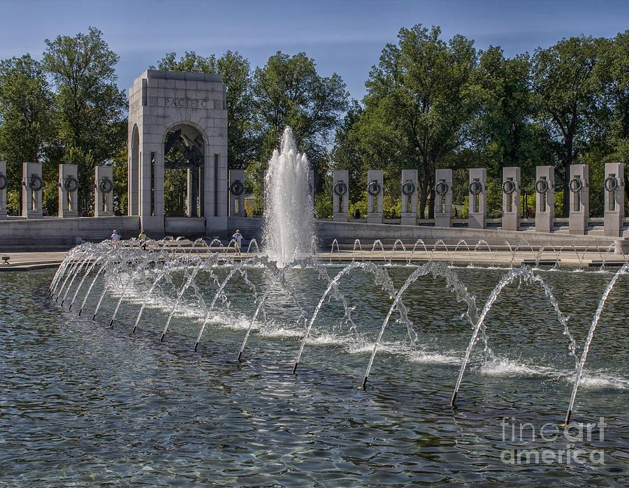 Pond At World War II Memorial Photograph