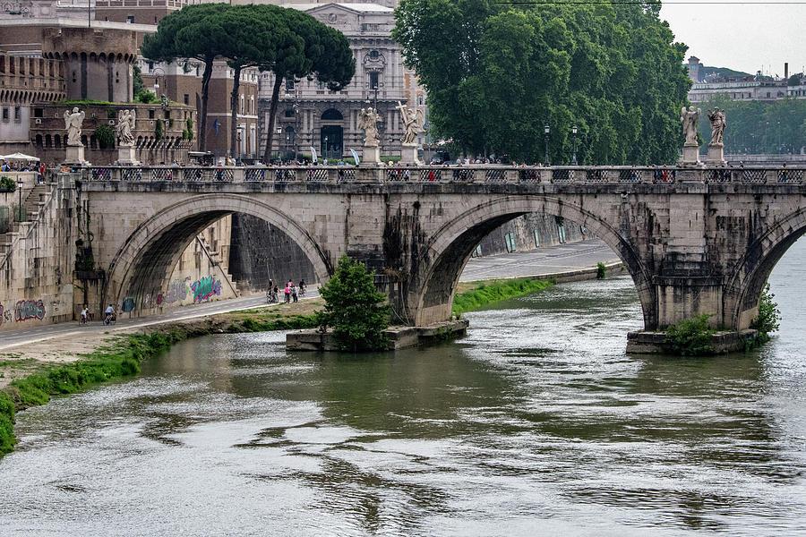 Bernini Photograph - Ponte Santangelo by Joseph Yarbrough
