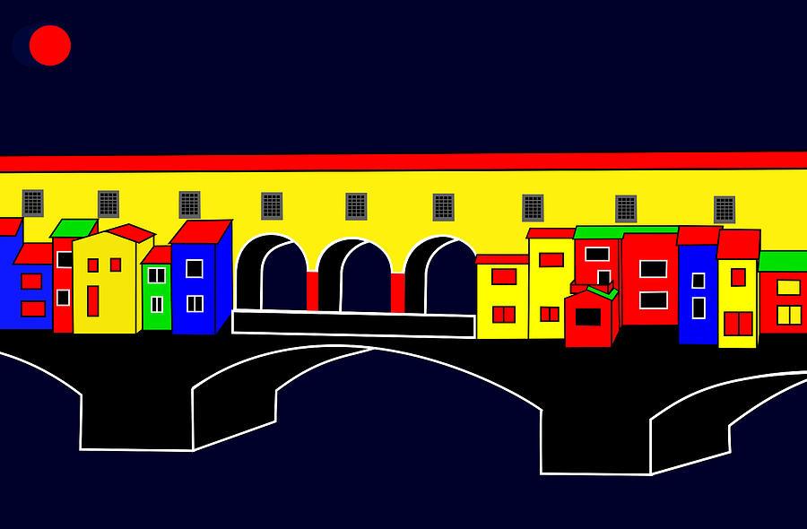 Ponte Vecchio Digital Art - Ponte Vecchio Inspirations by Asbjorn Lonvig