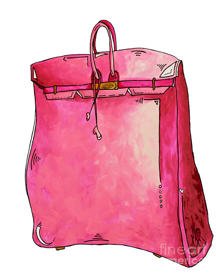 9c85c3ca21bf Pop Of Pink Pop Art Couture Purse Birkin Style Bag By Megan Duncanson