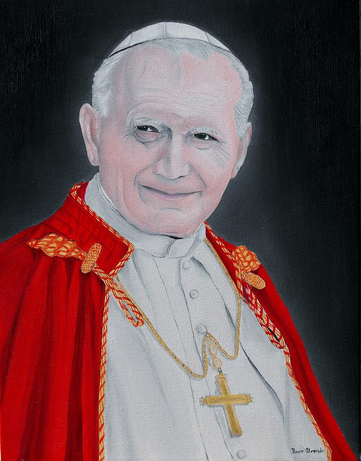 Pope John Paul II Portrait Painting by Bosco Alvarado