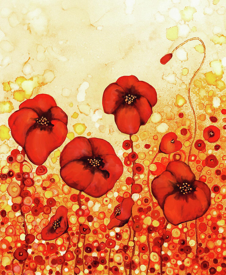 Poppies Painting - Poppin Poppies #1 by Jennifer Allison
