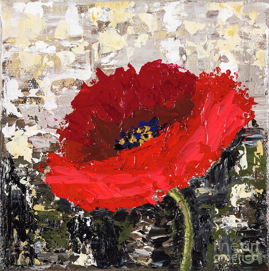 Poppy Flower Painting By Elina Nanikova